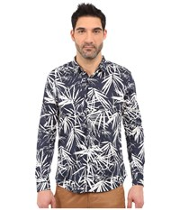 7 Diamonds Night Garden Long Sleeve Shirt Navy Men's Long Sleeve Button Up