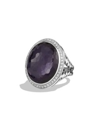 Oval Ring With Black Orchid And Diamonds David Yurman