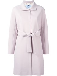 Blumarine Belted Trench Coat Nude And Neutrals