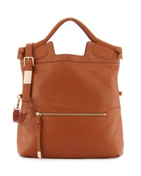 Foley Corinna Mid City Fold Over Tote Bag Honey Brow