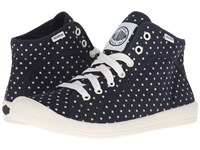 Palladium Flex Lace Mid Pd Black Antique White Polka Dots Women's Shoes