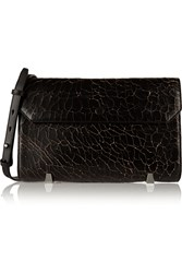 Alexander Wang Chastity Cracked Leather Clutch Black