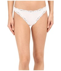 Only Hearts Club Organic Cotton Lace Thong White Women's Underwear