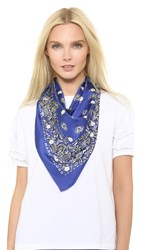 Marc Jacobs Studded Paisley Bandana Deep Royal Multi