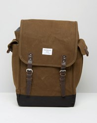 Sandqvist Bob Backpack In Waxed Canvas Green