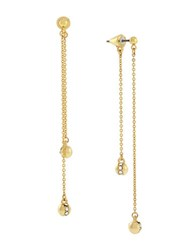 Vince Camuto Fine Drama Front And Back Pave Set Drop Earrings Gold