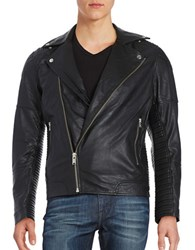Selected Leather Moto Jacket Black