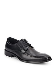 Kenneth Cole Reaction Moc Toe Leather Derby Shoes Black