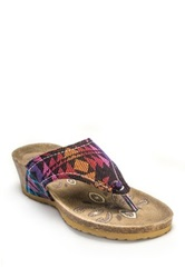 Muk Luks Olivia Terra Turf Wedge Multi