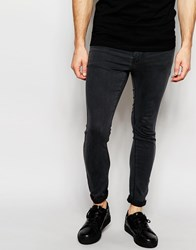 Pull And Bear Pullandbear Super Skinny Fit Jeans In Grey Wash