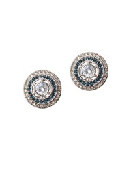 Lauren Ralph Lauren Cubic Zirconia Clip On Stud Earrings Blue