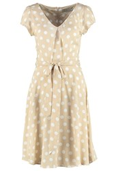 Dorothy Perkins Billie And Blossom Summer Dress Light Brown Taupe