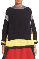 Undercover Women's Wool Sweater With Crepe Underlay