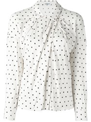 Cacharel Draped Polka Dot Shirt Nude And Neutrals