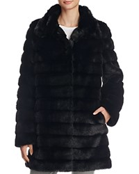 Anne Klein Faux Fur Coat Compare At 320 Black