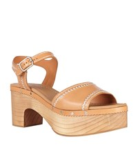 Sandro Audry Leather Clog Female Brown