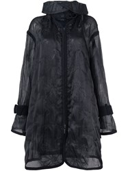 Sacai Transparent Coat Black
