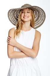 Flora Bella Bacilia Open Raffia Braid Hat Beige