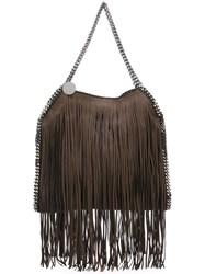 Stella Mccartney 'Falabella' Fringed Tote Brown