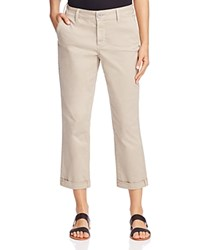 Nydj Riley Relaxed Fit Cropped Pants Soft Taupe