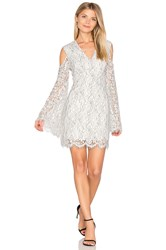 Keepsake Porcelain Long Sleeve Lace Dress White