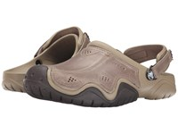 Crocs Swiftwater Leather Camp Clog Khaki Espresso Men's Shoes