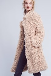 Anthropologie Avey Sherpa Coat Neutral