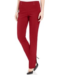 Jm Collection Petite Studded Pull On Pants Only At Macy's New Red Amore