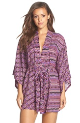 Josie 'Nikkita' Print Happi Coat Purple