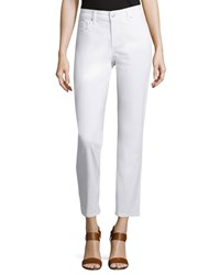 Nydj Alisha Fitted Ankle Jeans Optic White