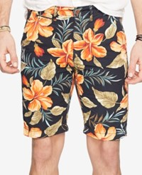 Denim And Supply Ralph Lauren Floral Print Chino Shorts Black