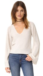 Free People Starman Pullover Sweater Ivory