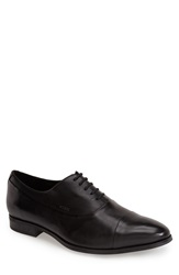 Geox 'Albert 2' Leather Cap Toe Oxford Men Black