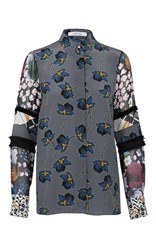 Dorothee Schumacher Grey Recomposed Flora Blouse Dark Grey