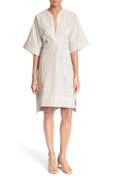 Women's Tory Burch 'Sasha' Perforated Leather Dress