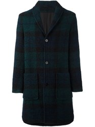 Carven 'Long Shawl Collar' Coat Green