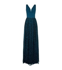 Escada Gcisa Embellished Gown Female Teal