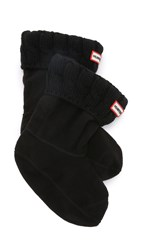 Hunter Cable Short Boot Socks Black