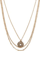 Forever 21 Layered Medallion Necklace