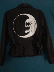 Dead Moon Hand Painted Leather Jacket By Bymariel On Etsy