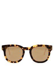 Thierry Lasry X Garrett Leight Square Frame Sunglasses Brown Multi
