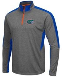 Colosseum Men's Florida Gators Atlas Quarter Zip Pullover Charcoal Royalblue