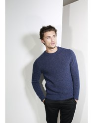 Johnstons Of Elgin Cashmere Donegal Sweater Blue