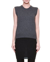 Dolce And Gabbana Sleeveless Knit Cashmere Sweater Gray