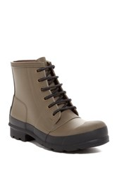 Hunter Original Rubber Lace Up Boot Green