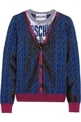 Moschino Intarsia Wool Sweater Blue