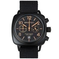 Briston Clubmaster Chronograph Watch Matte Black And Orange