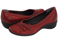 Hush Puppies Burlesque Dark Red Leather Women's Slip On Shoes