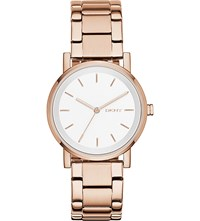 Dkny Ny2344 Soho Rose Gold Plated Stainless Steel Watch