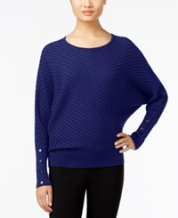 Alfani Dolman Sleeve Ribbed Sweater Only At Macy's Plum